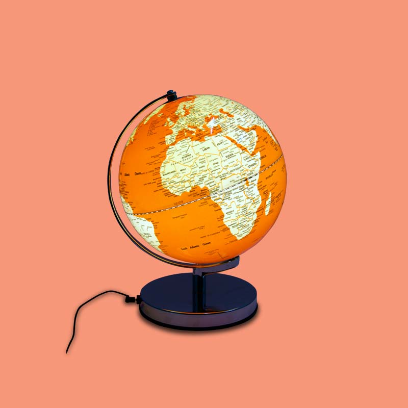 Mappemonde orange
